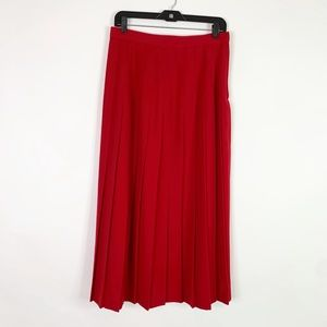 Austin Reed Vintage Skirt 12 Maxi Pleated Wool